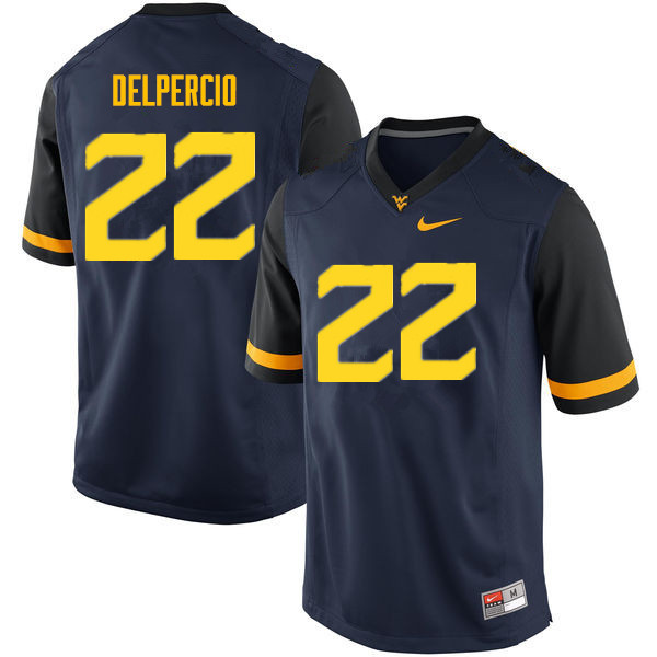 Men #22 Anthony Delpercio West Virginia Mountaineers College Football Jerseys Sale-Navy