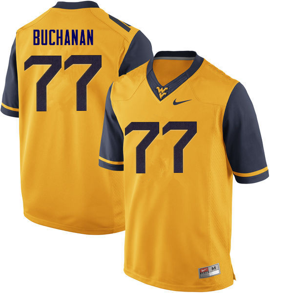 Men #77 Daniel Buchanan West Virginia Mountaineers College Football Jerseys Sale-Yellow