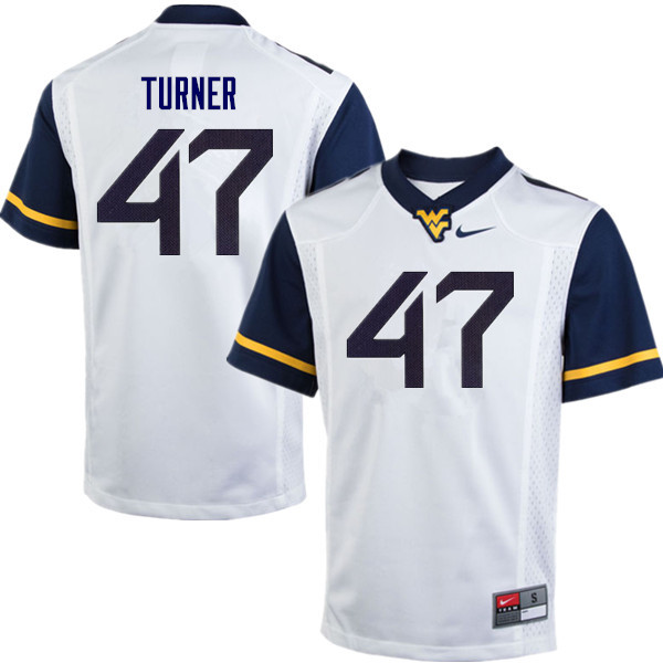 Men #47 Joseph Turner West Virginia Mountaineers College Football Jerseys Sale-White