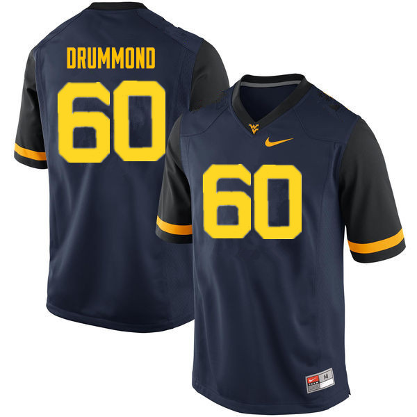 Men #60 Noah Drummond West Virginia Mountaineers College Football Jerseys Sale-Navy