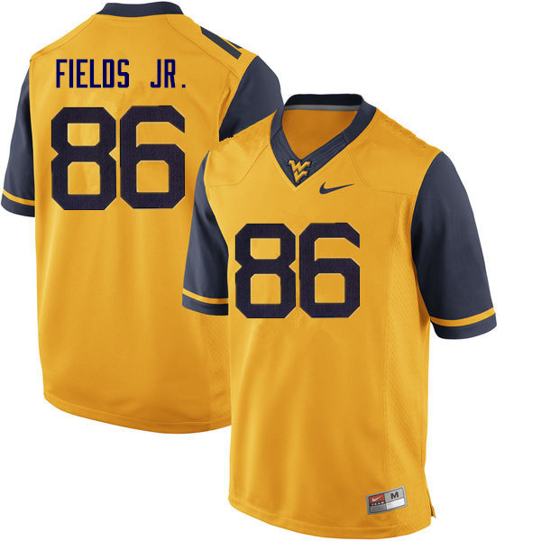 Men #86 Randy Fields Jr. West Virginia Mountaineers College Football Jerseys Sale-Yellow