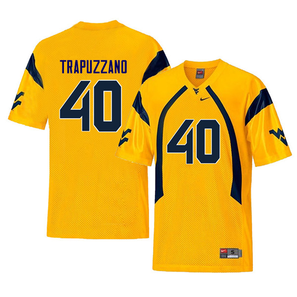 Men #40 Sam Trapuzzano West Virginia Mountaineers Throwback College Football Jerseys Sale-Yellow