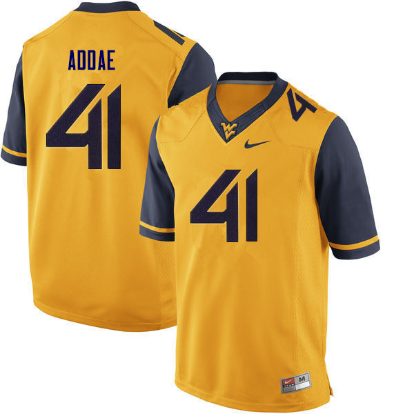 Men #41 Alonzo Addae West Virginia Mountaineers College Football Jerseys Sale-Gold