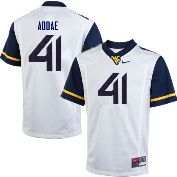 Men #41 Alonzo Addae West Virginia Mountaineers College Football Jerseys Sale-White