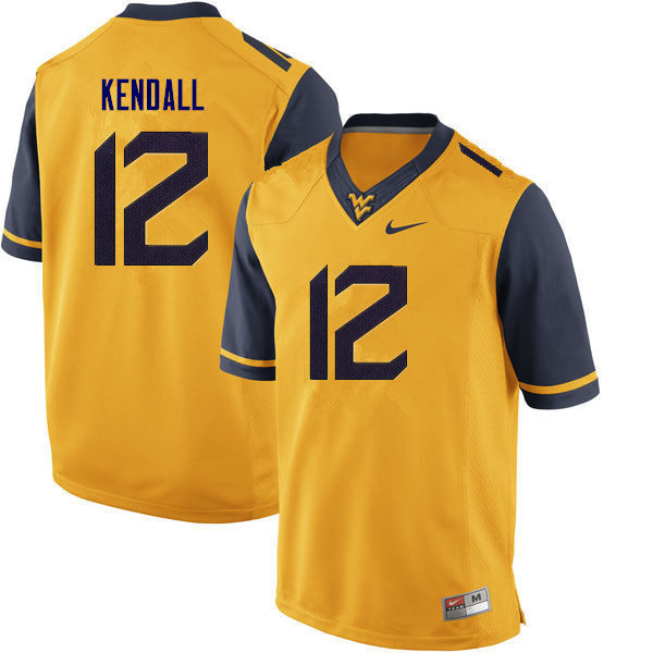 Men #10 Austin Kendall West Virginia Mountaineers College Football Jerseys Sale-Gold