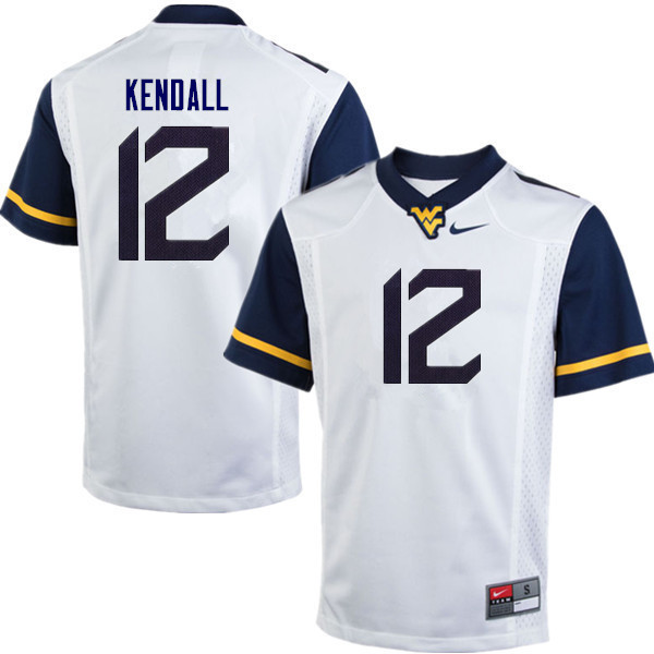 Men #10 Austin Kendall West Virginia Mountaineers College Football Jerseys Sale-White