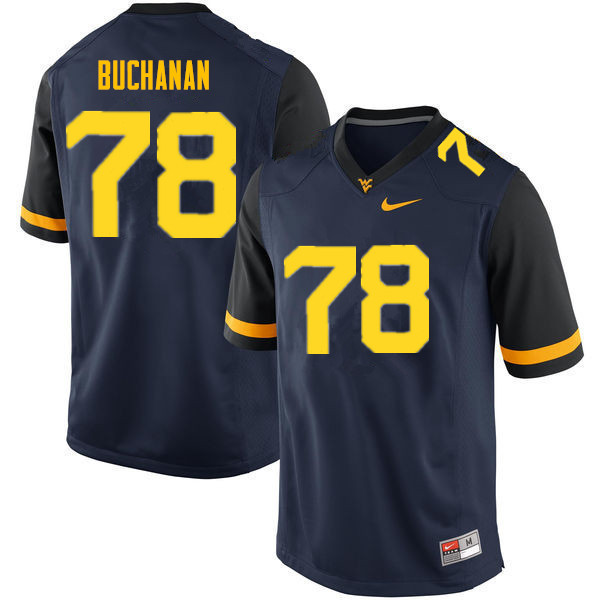 Men #78 Daniel Buchanan West Virginia Mountaineers College Football Jerseys Sale-Navy