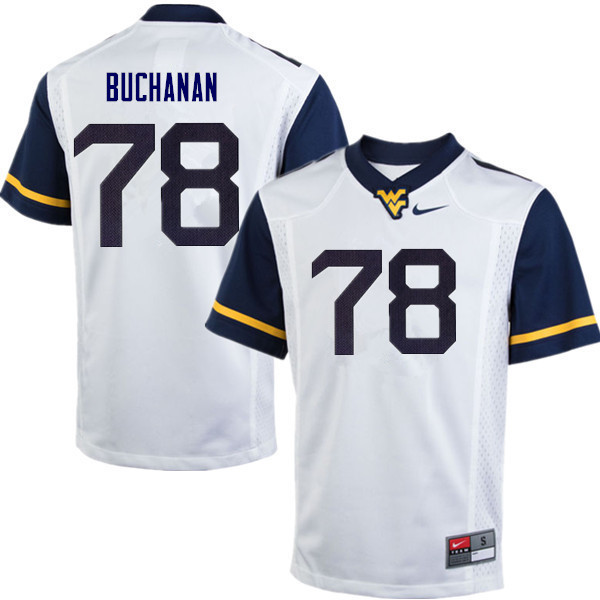 Men #78 Daniel Buchanan West Virginia Mountaineers College Football Jerseys Sale-White