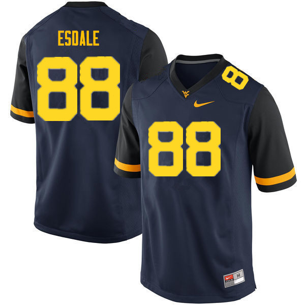 Men #38 Isaiah Esdale West Virginia Mountaineers College Football Jerseys Sale-Navy