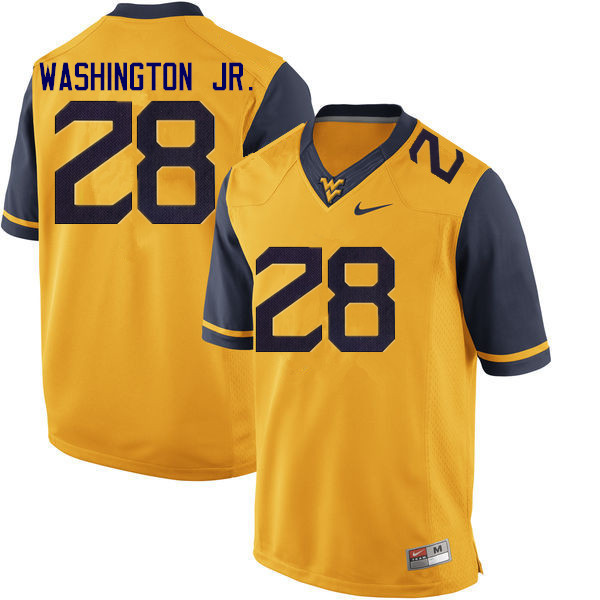 Men #28 Keith Washington Jr. West Virginia Mountaineers College Football Jerseys Sale-Gold