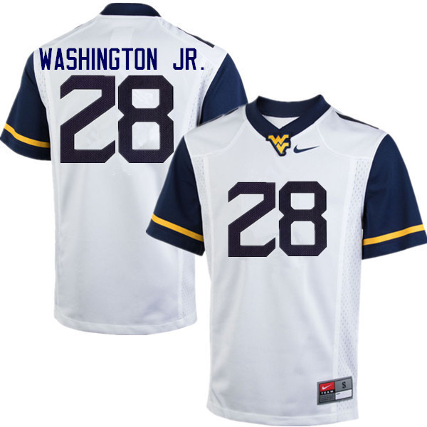 Men #28 Keith Washington Jr. West Virginia Mountaineers College Football Jerseys Sale-White