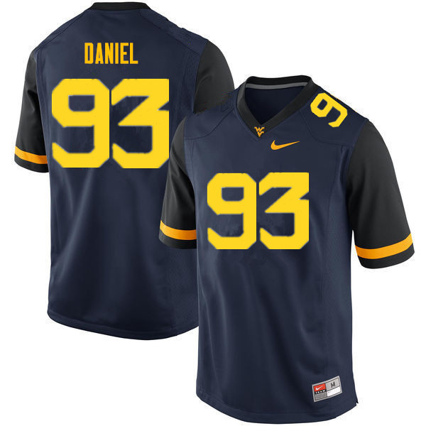 Men #93 Matt Daniel West Virginia Mountaineers College Football Jerseys Sale-Navy