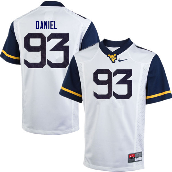 Men #93 Matt Daniel West Virginia Mountaineers College Football Jerseys Sale-White