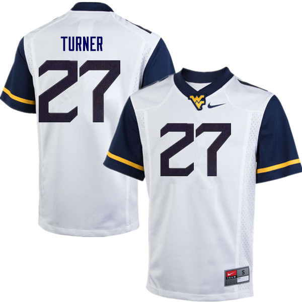 Men #27 Tacorey Turner West Virginia Mountaineers College Football Jerseys Sale-White