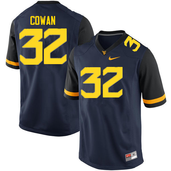Men #32 VanDarius Cowan West Virginia Mountaineers College Football Jerseys Sale-Navy
