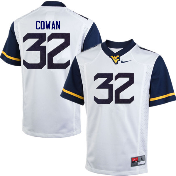 Men #32 VanDarius Cowan West Virginia Mountaineers College Football Jerseys Sale-White