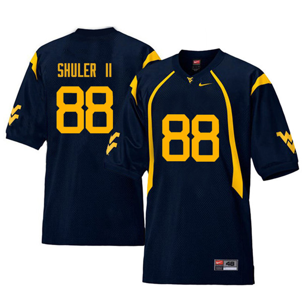 Men #88 Adam Shuler II West Virginia Mountaineers Retro College Football Jerseys Sale-Navy