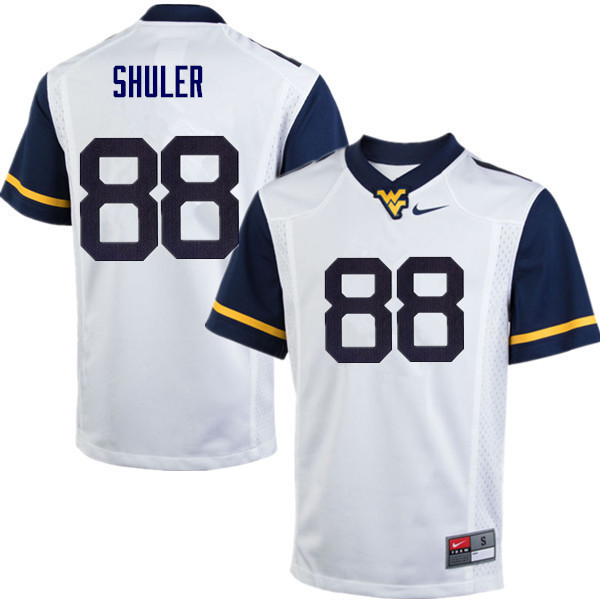 Men #88 Adam Shuler West Virginia Mountaineers College Football Jerseys Sale-White