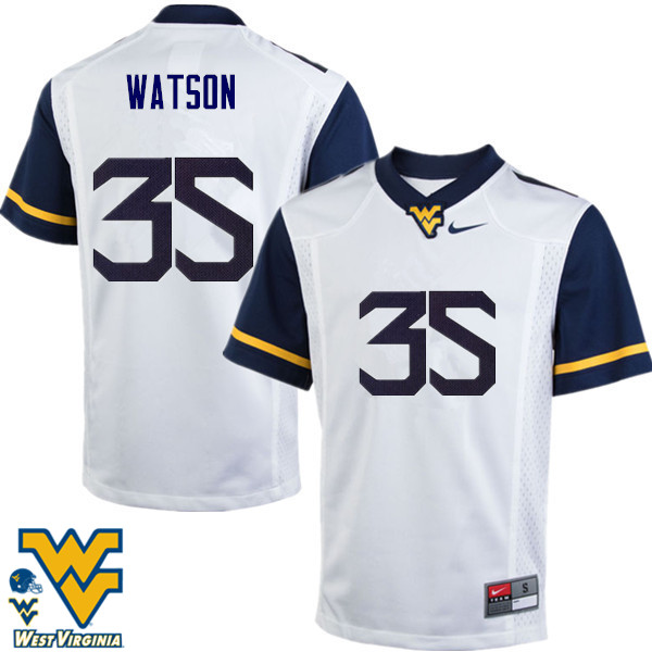 Men #35 Brady Watson West Virginia Mountaineers College Football Jerseys-White