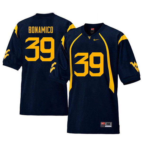 Men #39 Dante Bonamico West Virginia Mountaineers Retro College Football Jerseys Sale-Navy