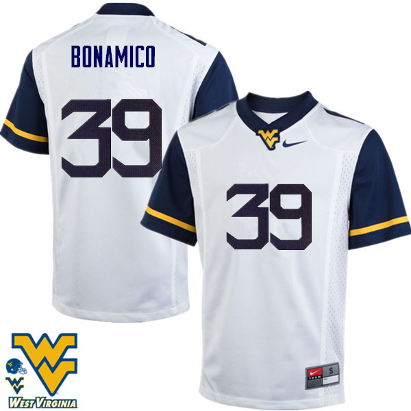 Men #39 Dante Bonamico West Virginia Mountaineers College Football Jerseys-White