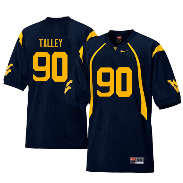 Men #90 Darryl Talley West Virginia Mountaineers Retro College Football Jerseys Sale-Navy