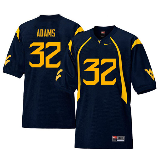 Men #32 Jacquez Adams West Virginia Mountaineers Retro College Football Jerseys Sale-Navy