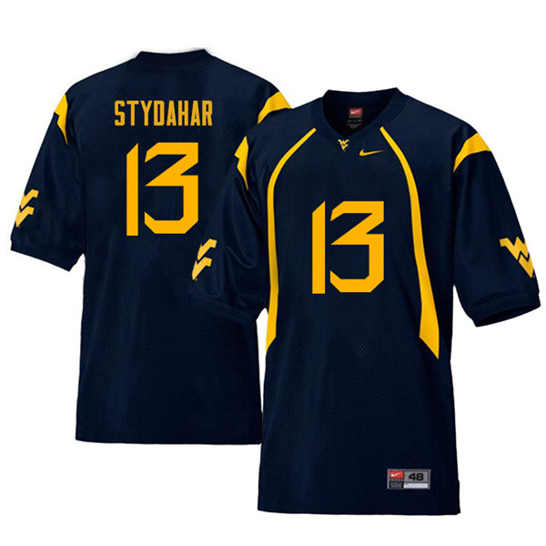 Men #13 Joe Stydahar West Virginia Mountaineers Retro College Football Jerseys Sale-Navy