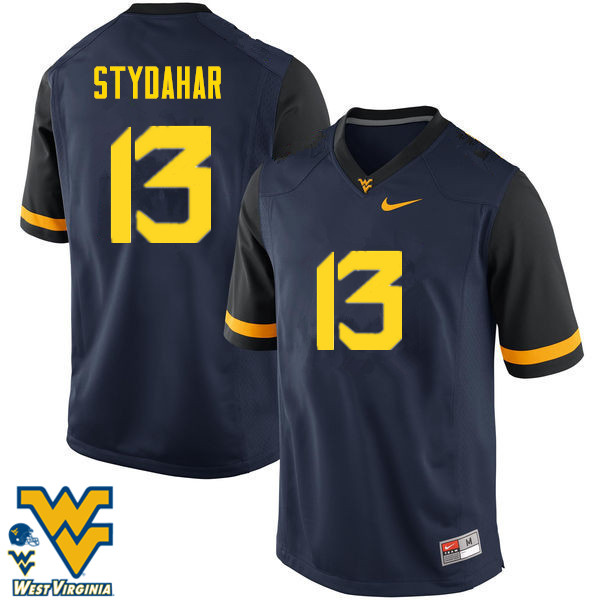 Men #13 Joe Stydahar West Virginia Mountaineers College Football Jerseys-Navy