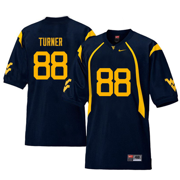 Men #88 Joseph Turner West Virginia Mountaineers Retro College Football Jerseys Sale-Navy