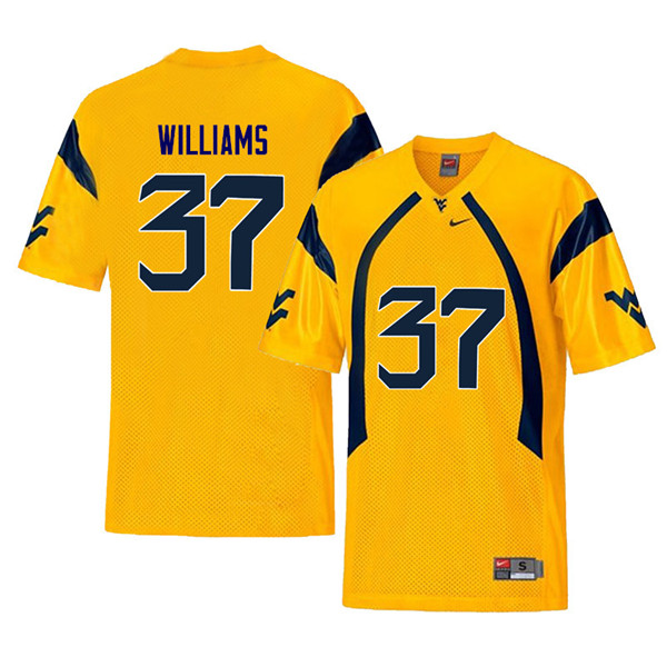 Men #37 Kevin Williams West Virginia Mountaineers Retro College Football Jerseys Sale-Yellow
