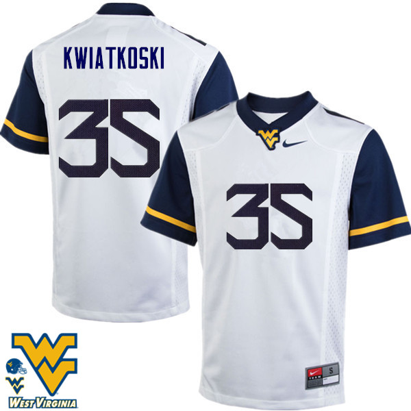 Men #35 Nick Kwiatkoski West Virginia Mountaineers College Football Jerseys-White