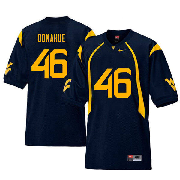 Men #46 Reese Donahue West Virginia Mountaineers Retro College Football Jerseys Sale-Navy