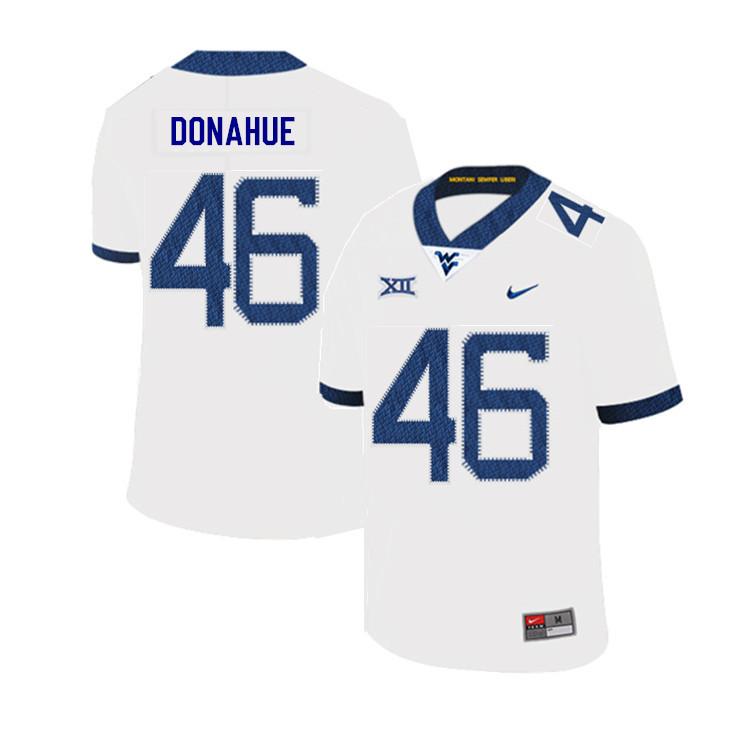2019 Men #46 Reese Donahue West Virginia Mountaineers College Football Jerseys Sale-White
