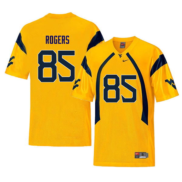 Men #85 Ricky Rogers West Virginia Mountaineers Retro College Football Jerseys Sale-Yellow