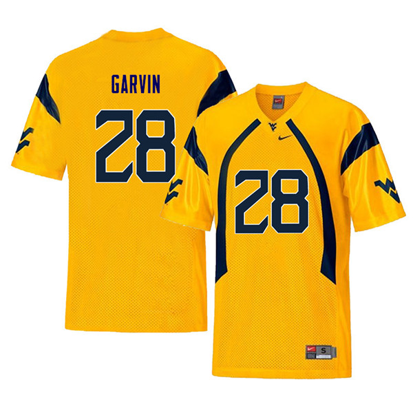 Men #28 Terence Garvin West Virginia Mountaineers Retro College Football Jerseys Sale-Yellow
