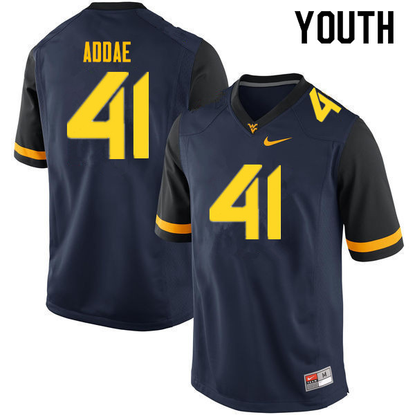 Youth #41 Alonzo Addae West Virginia Mountaineers College Football Jerseys Sale-Navy
