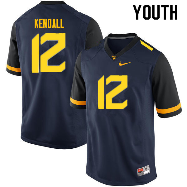 Youth #10 Austin Kendall West Virginia Mountaineers College Football Jerseys Sale-Navy