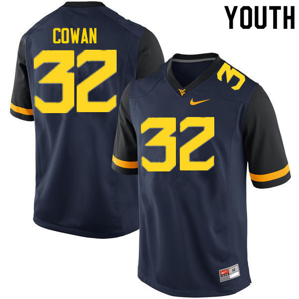 Youth #32 VanDarius Cowan West Virginia Mountaineers College Football Jerseys Sale-Navy