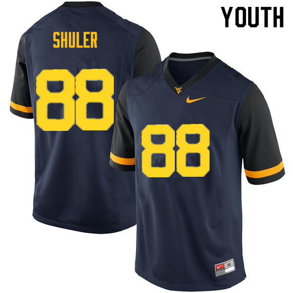 Youth #88 Adam Shuler West Virginia Mountaineers College Football Jerseys Sale-Navy