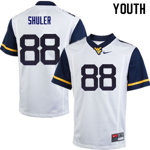 Youth #88 Adam Shuler West Virginia Mountaineers College Football Jerseys Sale-White