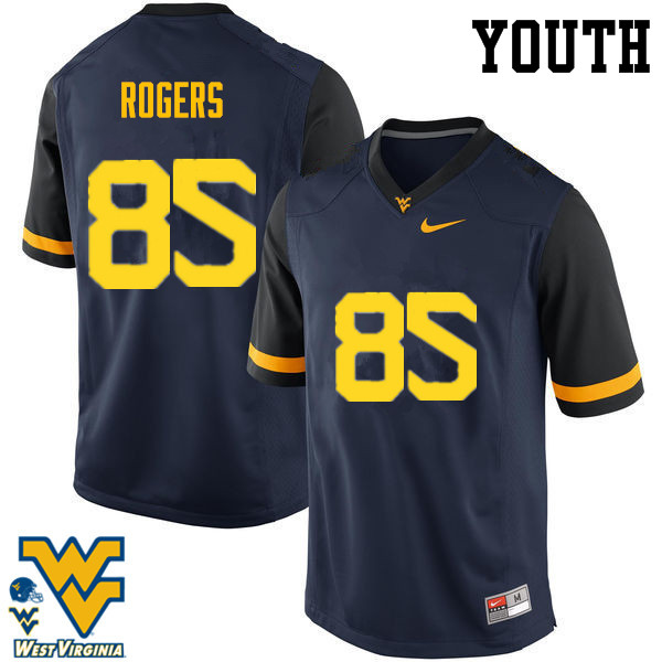 Youth #85 Ricky Rogers West Virginia Mountaineers College Football Jerseys-Navy